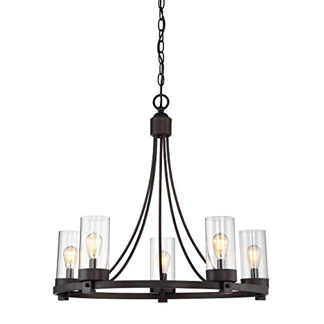 Shaylee 5 Light Candle Style Chandeliers Throughout Well Known Agave Oil Rubbed Bronze 5 Light Candle Style Chandelier (View 20 of 25)