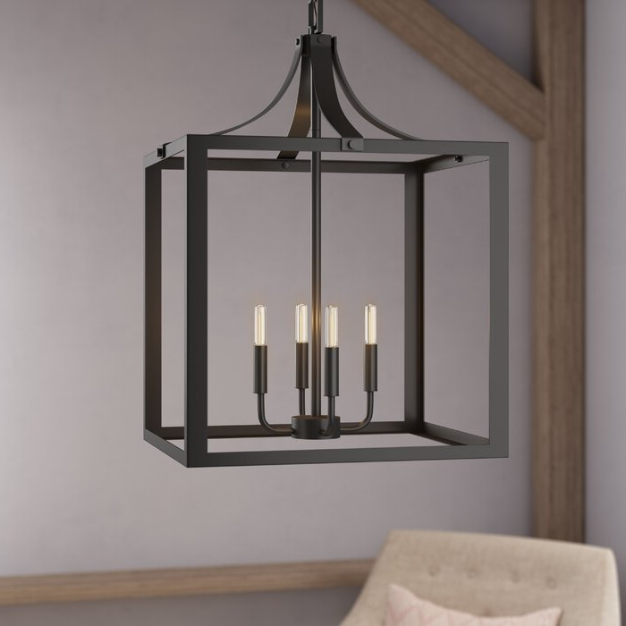 Sherri 6 Light Chandeliers In 2017 Sherri Ann 4 Light Lantern Square / Rectangle Pendant (View 17 of 25)
