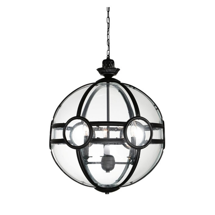 Shipststour 3 Light Globe Chandeliers With Most Up To Date Fanning 3 Light Chandelier (View 21 of 25)