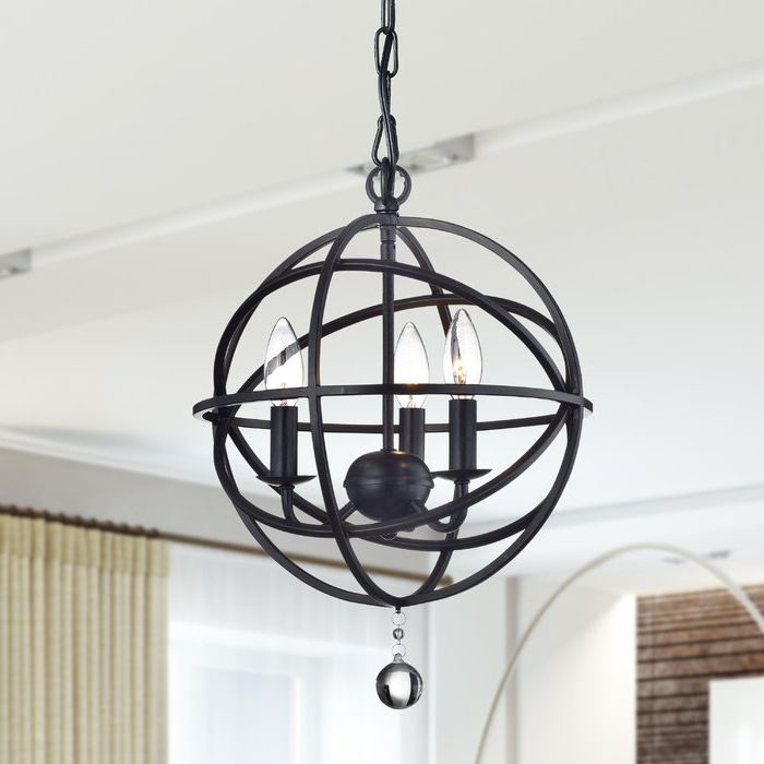 Shipststour 3 Light Globe Chandeliers Within 2018 Eastcote 3 Light Globe Chandelier (Gallery 12 of 25)