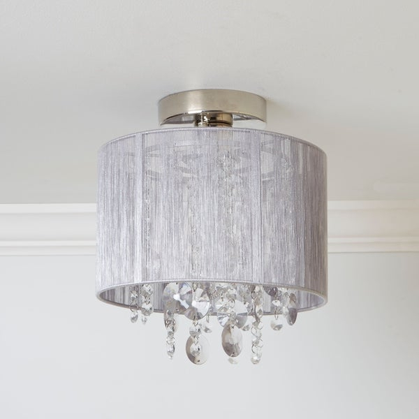 Shop Silvia String Beaded Flush Mount Ceiling Light – On With Regard To Most Recently Released Alverez 4 Light Drum Chandeliers (Gallery 15 of 25)