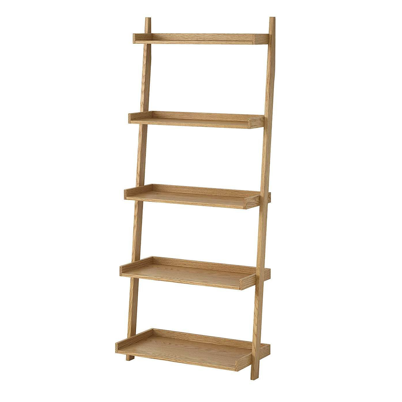 Sidmouth Oak Wide Ladder Bookcase (View 18 of 20)