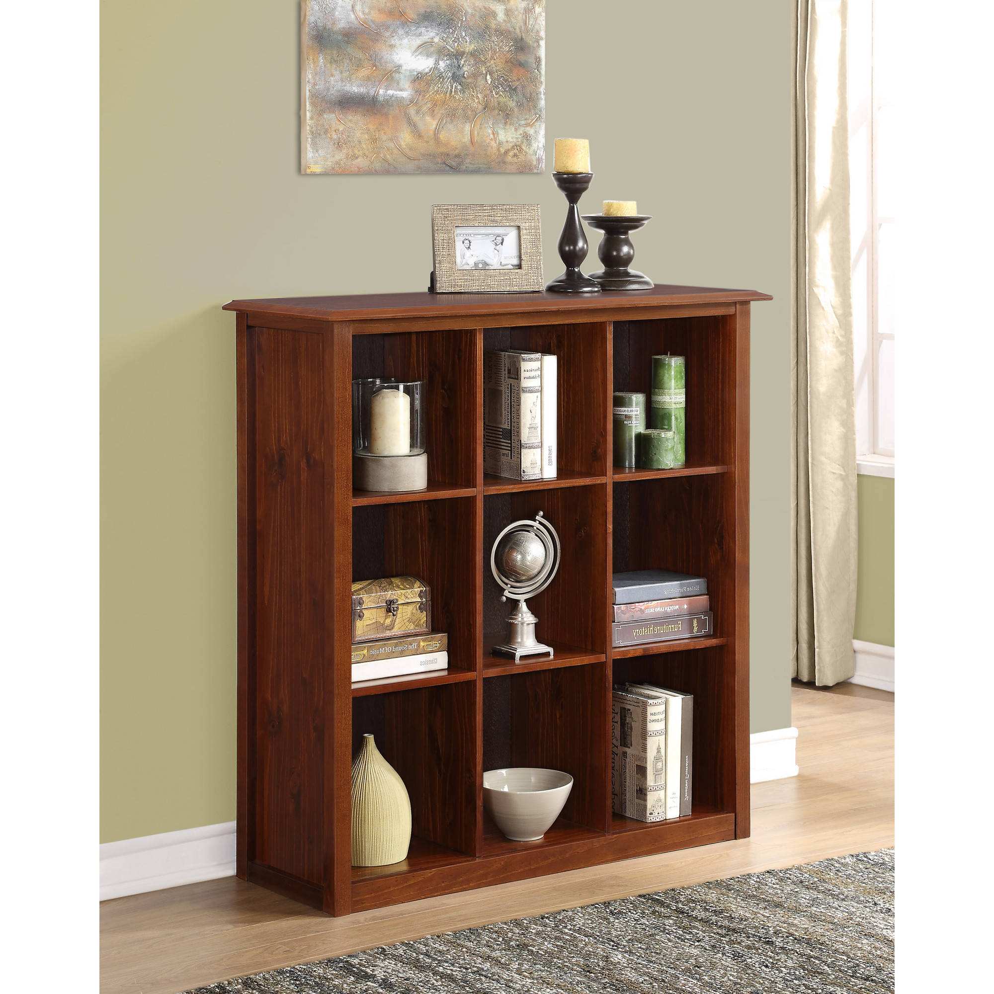 Simpli Home Carlton 9 Cube Bookcase & Storage Unit In Widely Used Strauss Cube Unit Bookcases (View 12 of 20)