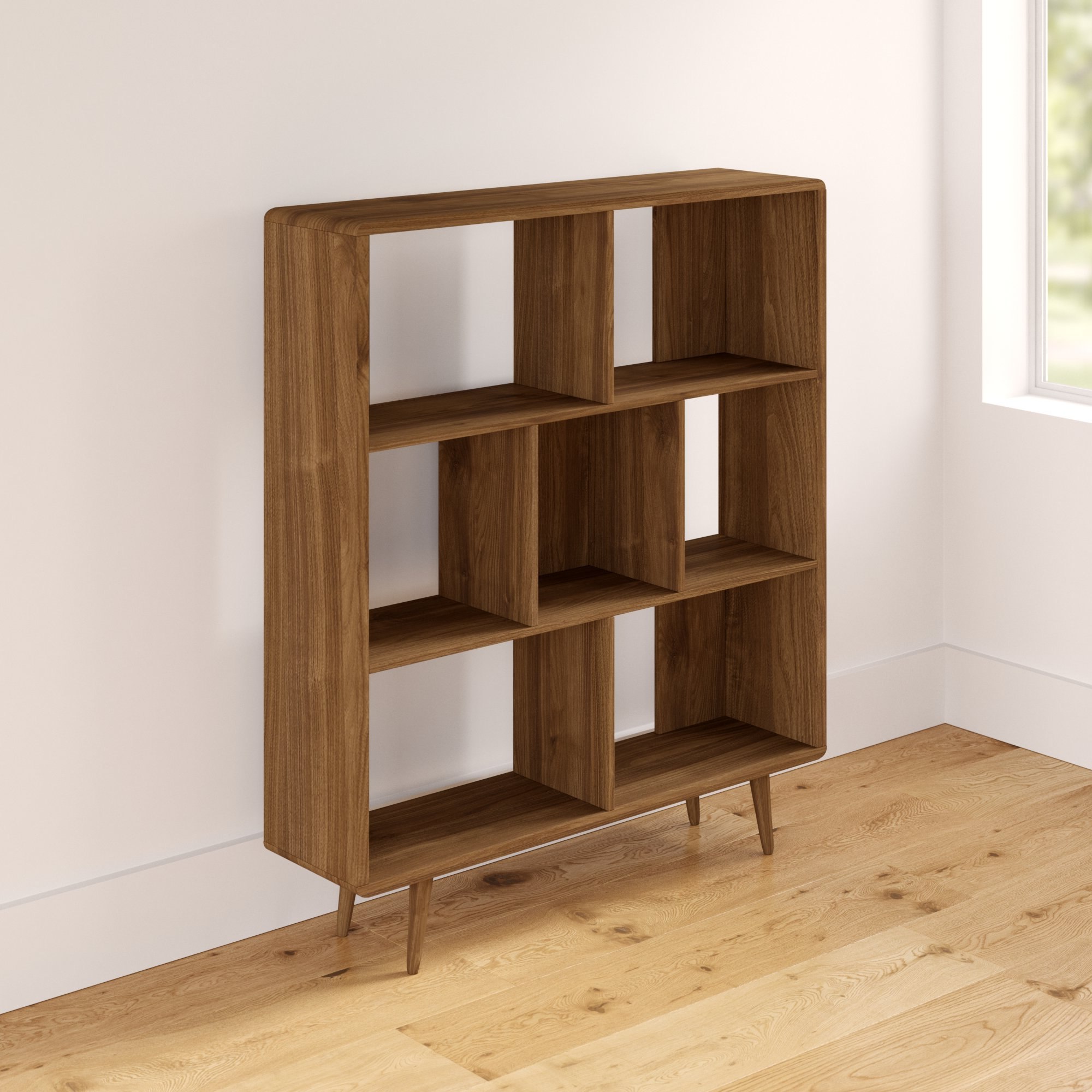 Skaggs Geometric Bookcases With Regard To Most Recently Released Chapple Geometric Bookcase (View 14 of 20)