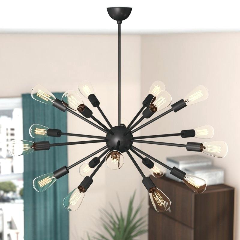 Sputnik 18 Light Chandelier Intended For Popular Defreitas 18 Light Sputnik Chandeliers (View 18 of 25)