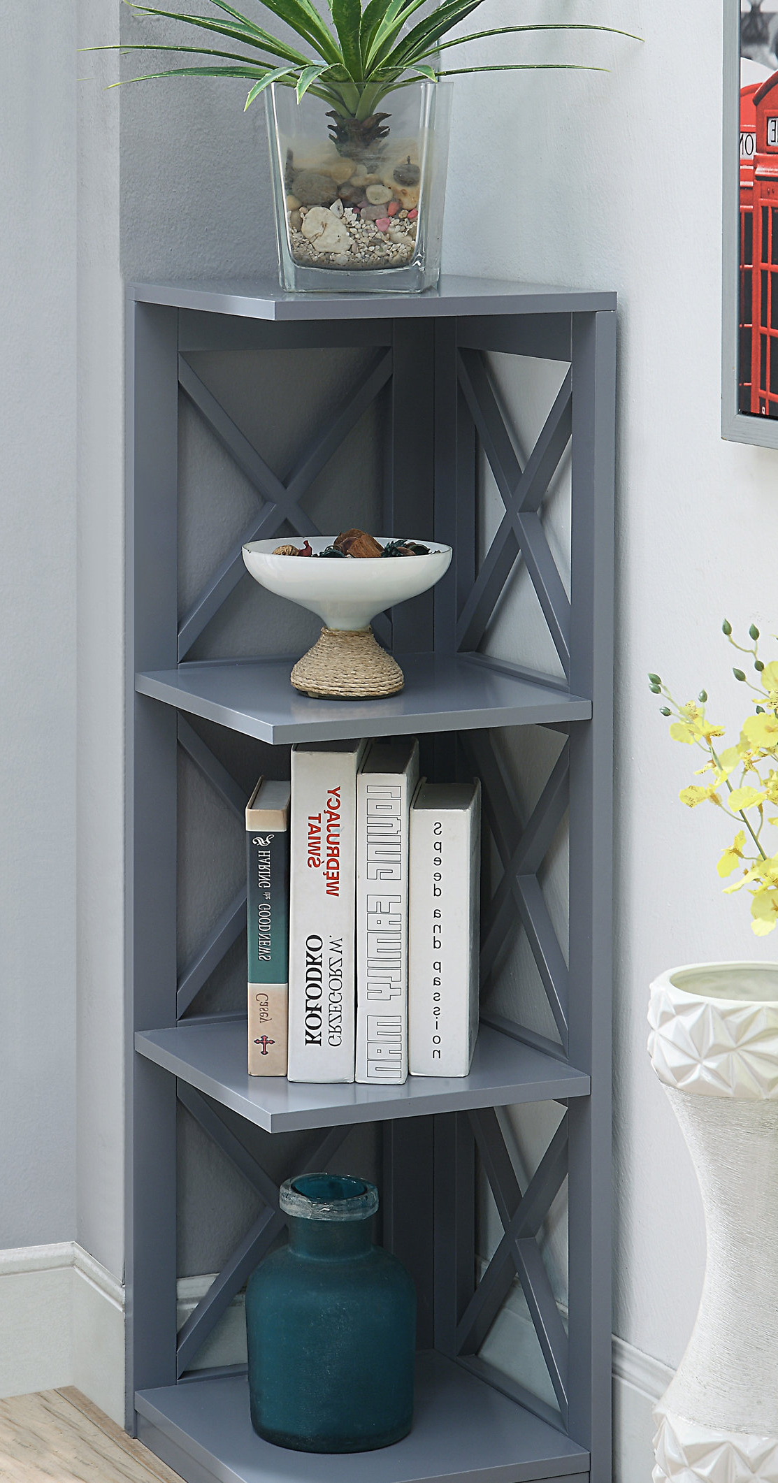 Stoneford Corner Bookcases Pertaining To Preferred Beachcrest Home Stoneford Corner Bookcase (Gallery 9 of 20)