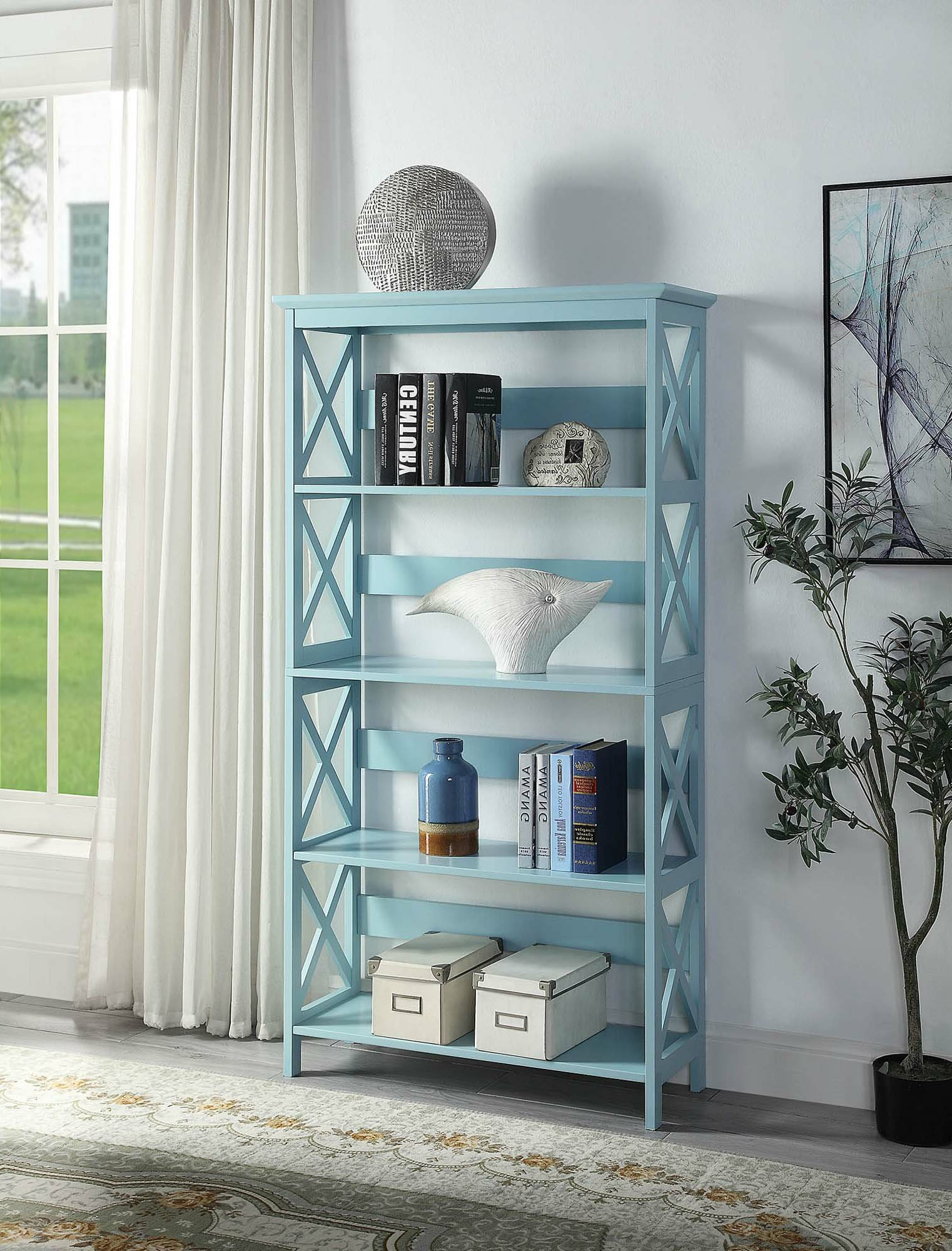 Stoneford Etagere Bookcase Within Widely Used Gracelynn 5 Tier Etagere Bookcases (View 20 of 20)