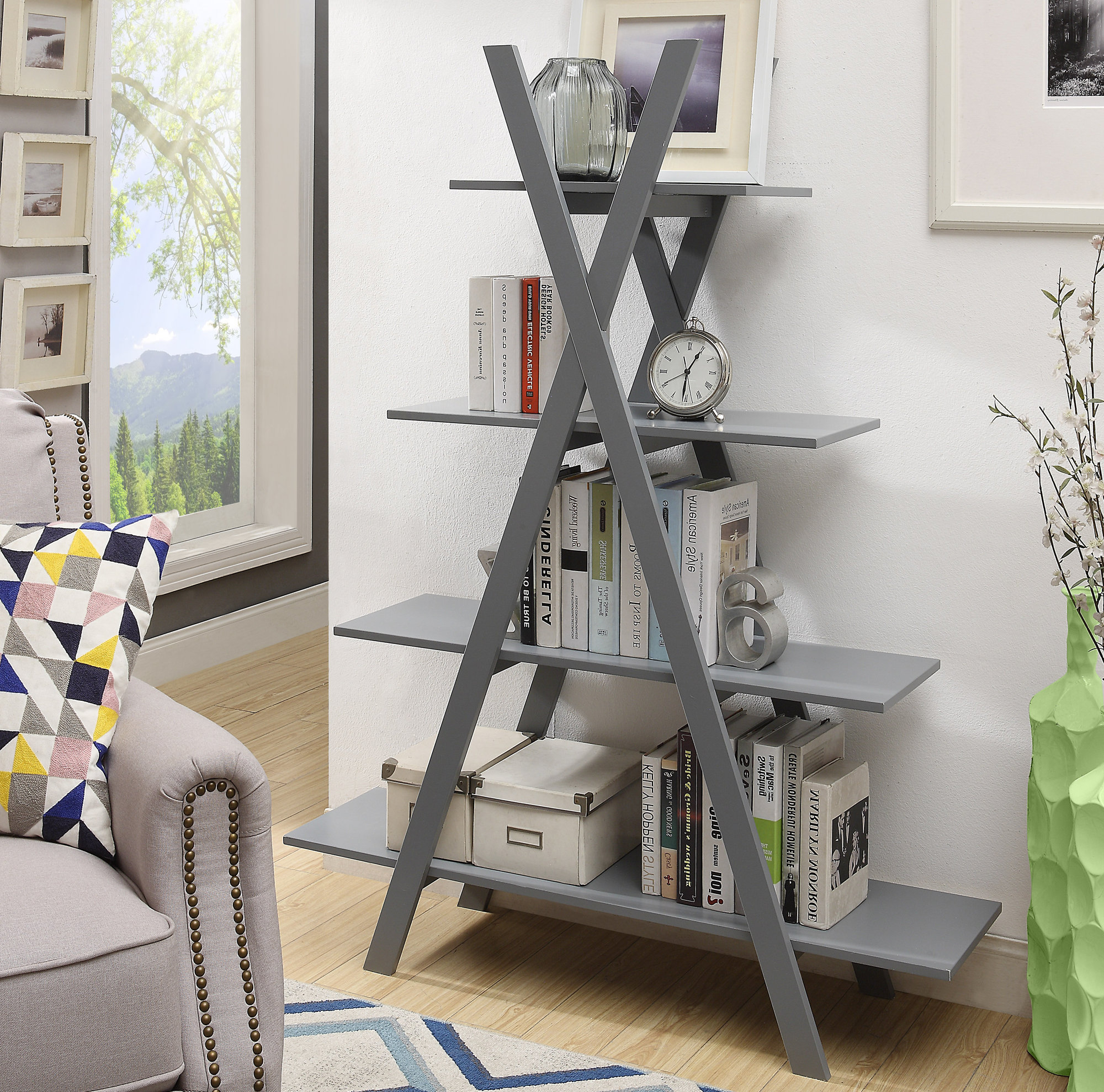 Stoneford Etagere Bookcases With Regard To Most Popular Stoneford Etagere Bookcase (Gallery 6 of 20)