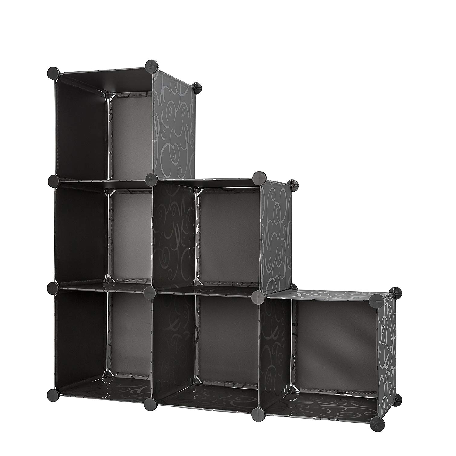 Storage Cube Organizer Bins With 3 Tiers Of Bookcase Modular Cubicals. 6  Cubes Make Great Organizer For Closet, Books, Arts & Crafts While  Minimizing In Current Cubicals Cube Bookcases (Gallery 8 of 20)