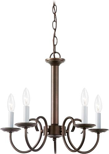 Suki 5 Light Shaded Chandeliers Intended For Recent Holman – Five Light Chandelier In Bell Metal Bronze (View 25 of 25)
