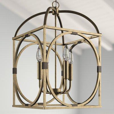 Taya 4 Light Lantern Square / Rectangle Pendant (View 4 of 25)