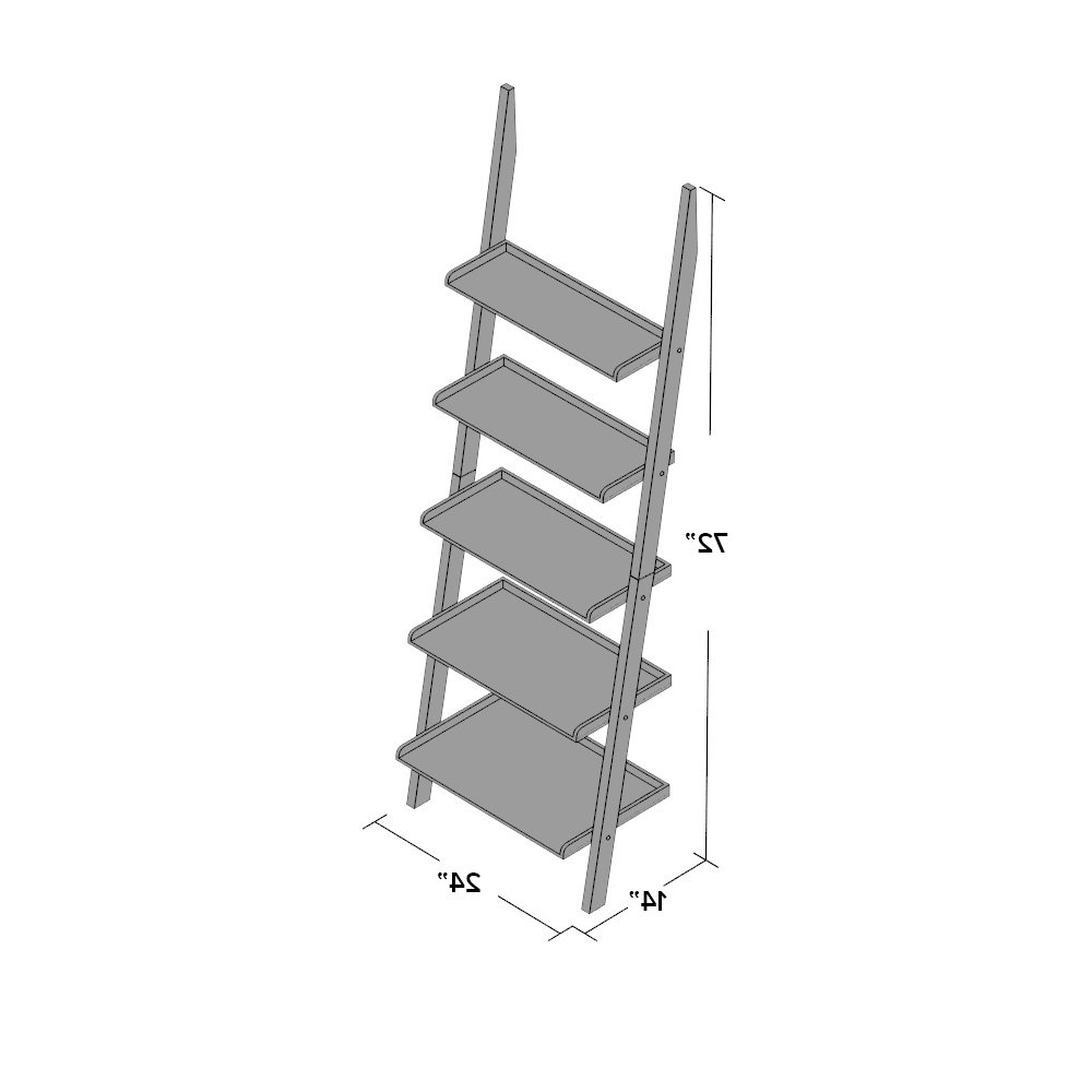Three Posts Gilliard Ladder Bookcase Intended For Well Liked Gilliard Ladder Bookcases (View 18 of 20)