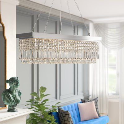 Three Posts Verdell 5 Light Crystal Chandelier Finish Pertaining To Best And Newest Verdell 5 Light Crystal Chandeliers (View 17 of 25)