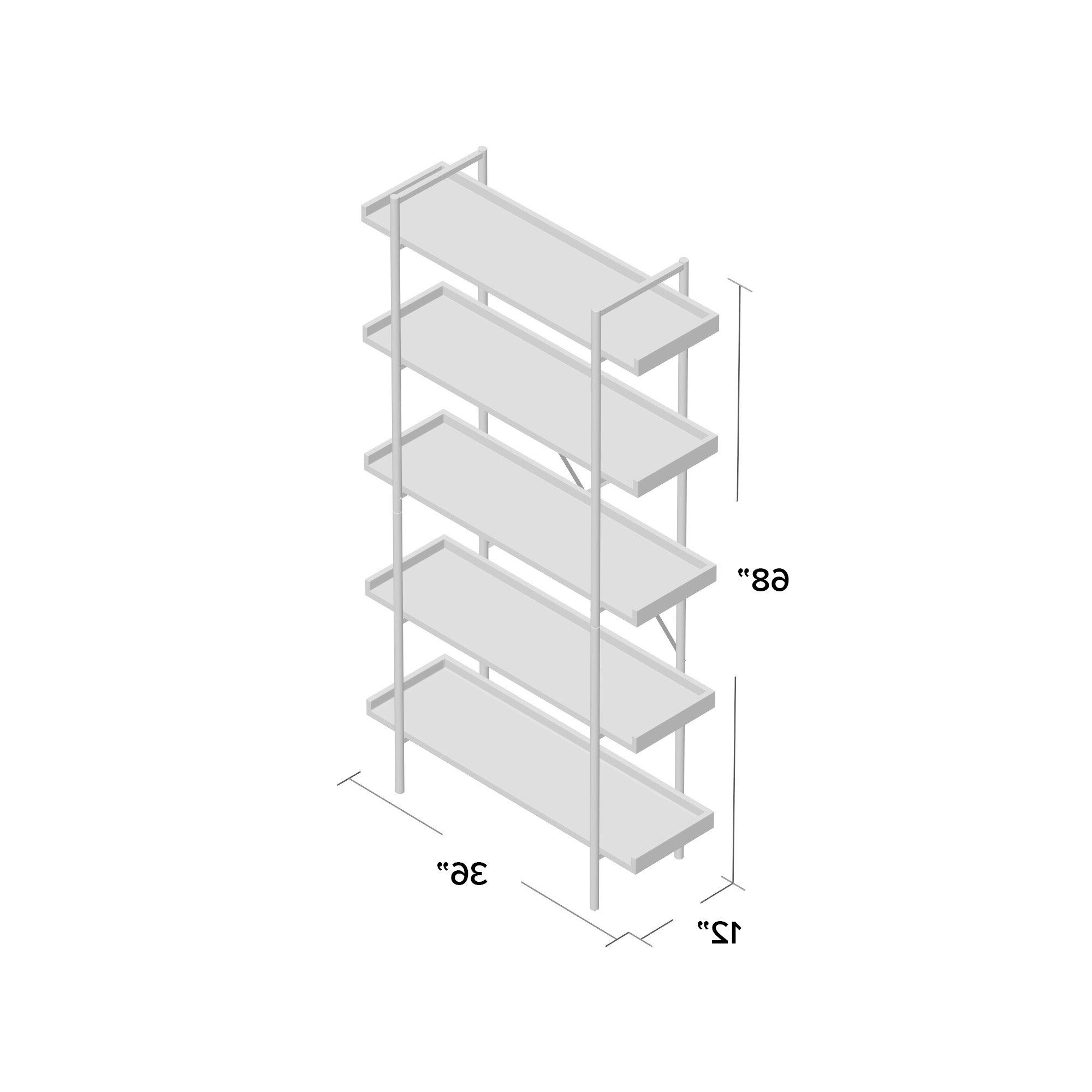 Tinoco Storage Shelf Standard Bookcases In Preferred Williston Forge Swindell Standard Bookcase (View 15 of 20)