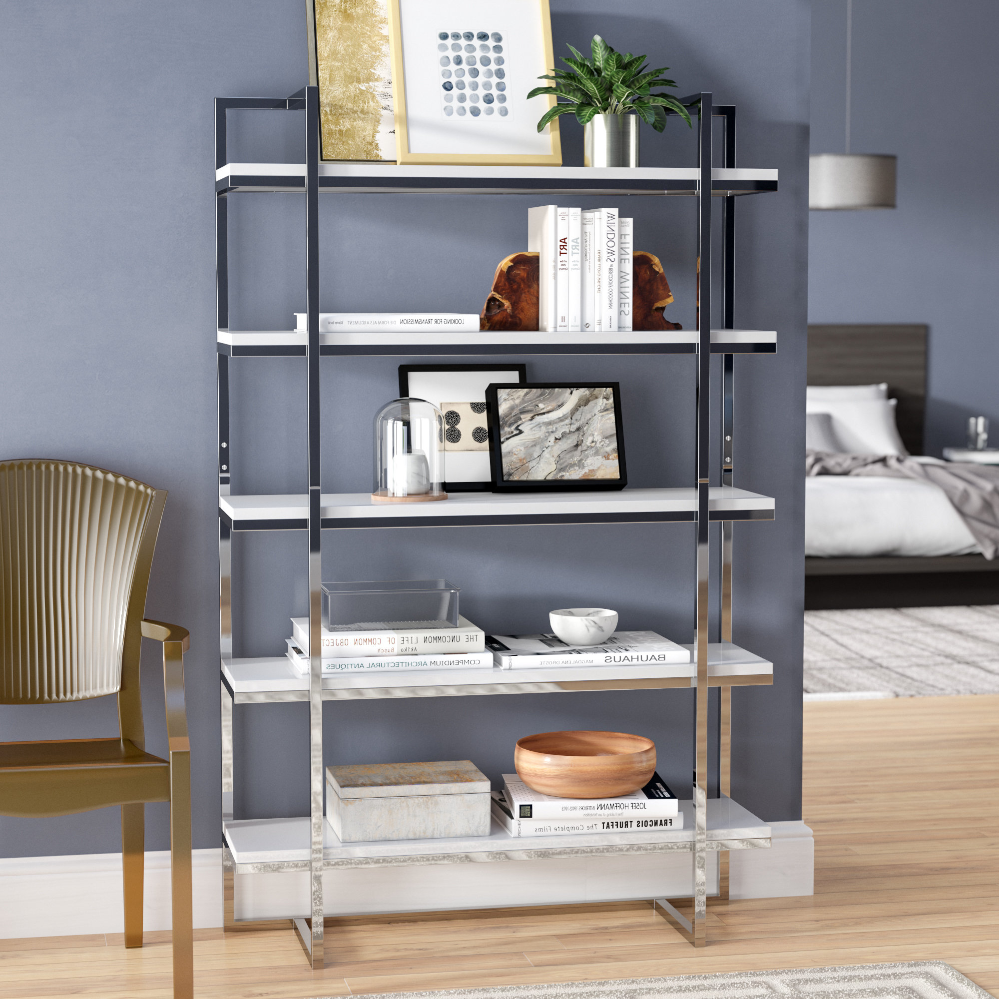 Tinoco Storage Shelf Standard Bookcases Throughout Most Current Orren Ellis Tinoco Etagere Bookcase (View 3 of 20)