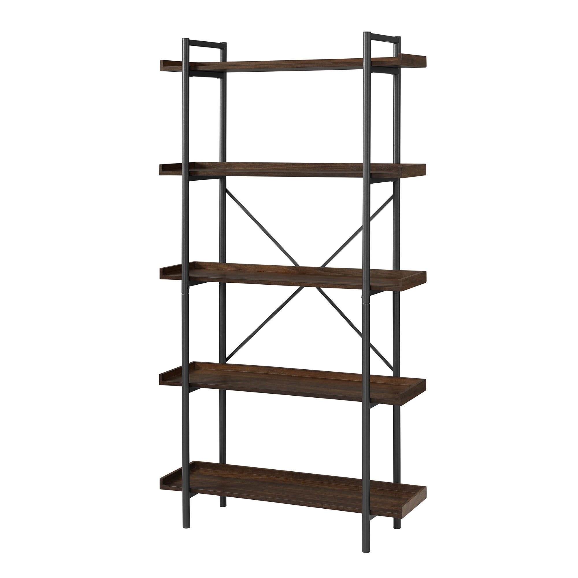 Tinoco Storage Shelf Standard Bookcases With Most Popular Williston Forge Swindell Standard Bookcase (View 8 of 20)