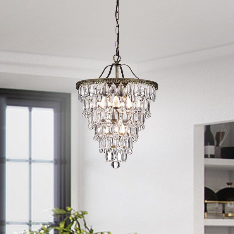 Totnes 4 Light Crystal Chandelier With Most Recent Benedetto 5 Light Crystal Chandeliers (View 17 of 25)