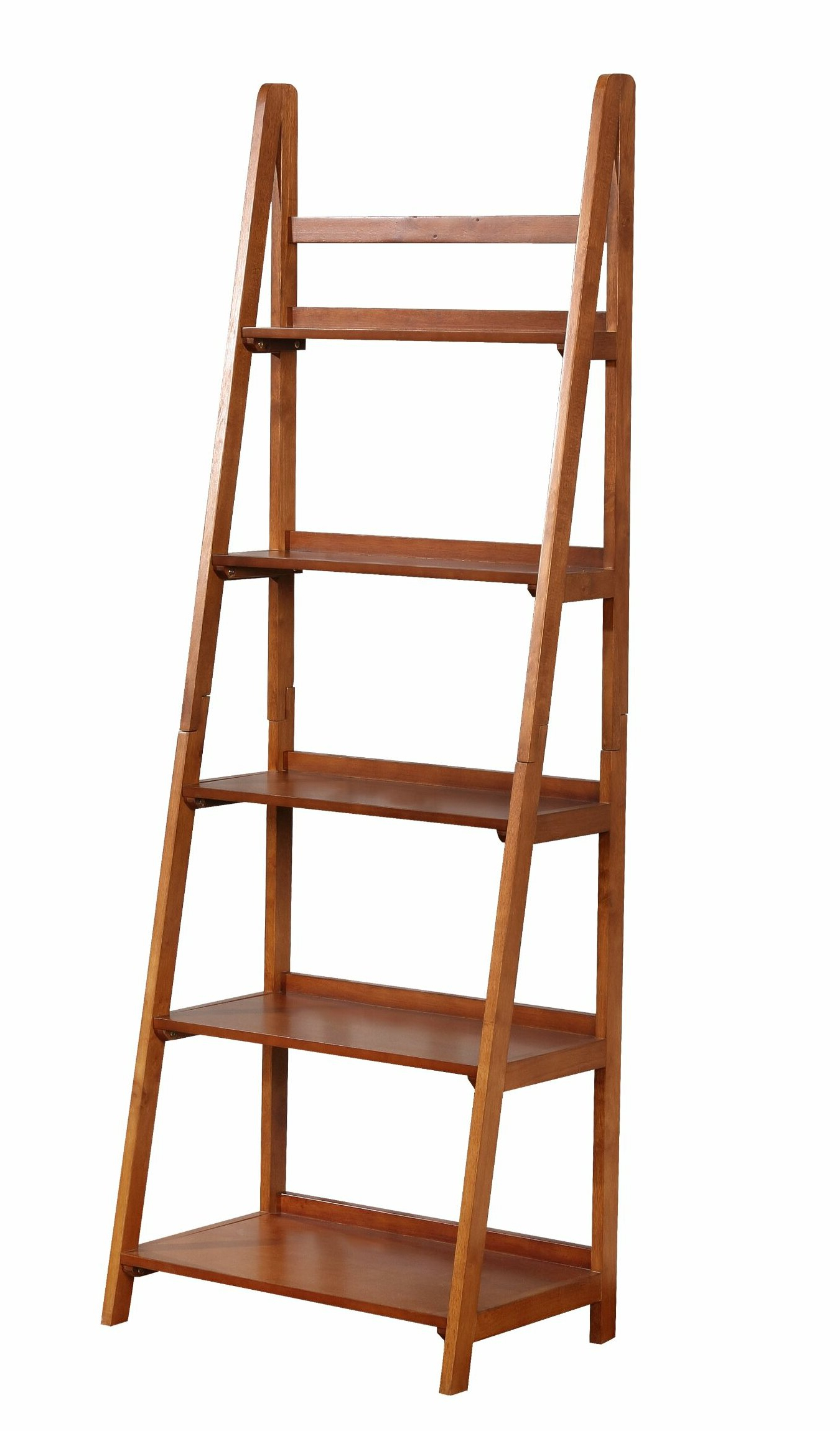 Tremaine Wooden Ladder Bookcase With Widely Used Brock Ladder Bookcases (View 19 of 20)