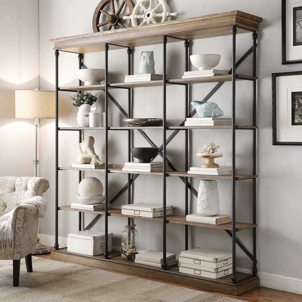 Trendy Add Bold And Rustic Character To Any Room With This Pertaining To Mabie Library Bookcases (View 10 of 20)