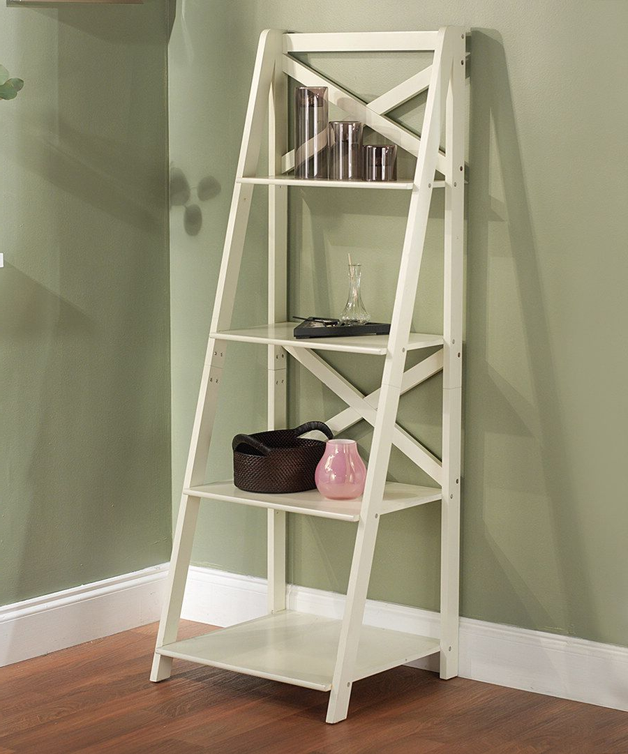 Trendy Alfred Ladder Bookcases In Look At This White Four Tier Shelf On #zulily Today! (View 4 of 20)