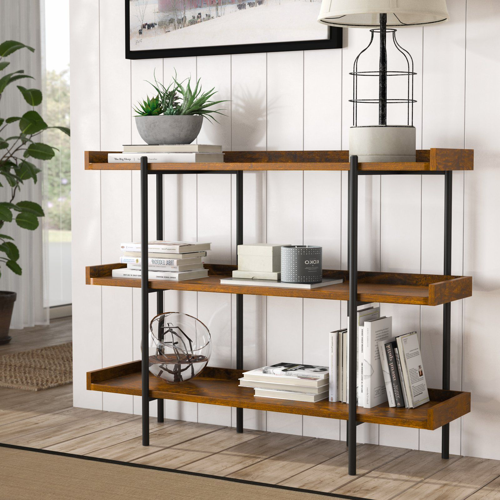 Trendy Champney Modern Etagere Bookcases Within Calona Modern Etagere Bookcase (View 18 of 20)
