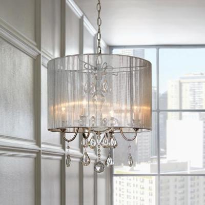 Trendy Chandeliers – The Home Depot Intended For Dailey 4 Light Drum Chandeliers (View 21 of 25)