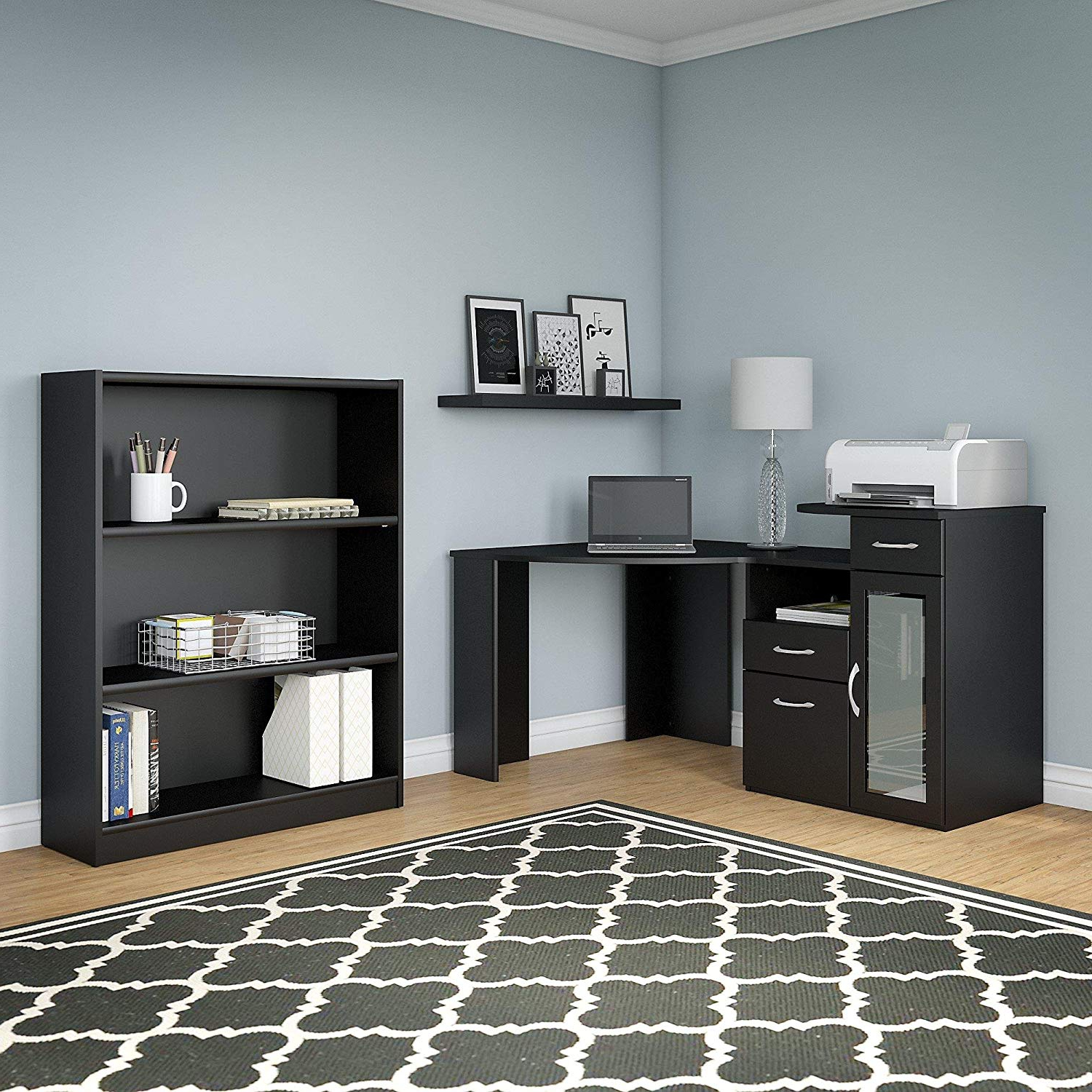 Trendy Cheap Black Corner Bookcase, Find Black Corner Bookcase Within Corner Bookcases By Hokku Designs (View 17 of 20)
