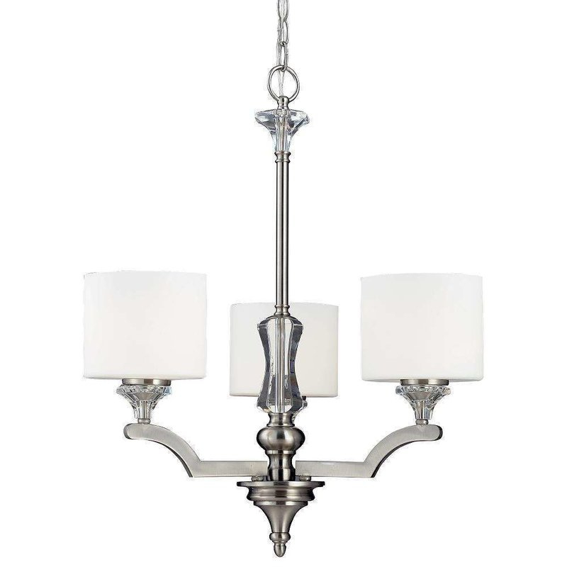 Trendy Clea 3 Light Crystal Chandeliers Within Corbin 3 Light Shaded Chandelier (View 11 of 25)