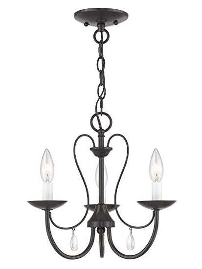 Trendy Clea 3 Light Crystal Chandeliers Within Livex Lighting 40863 92 Mirabella 3 Light English Bronze (View 9 of 25)