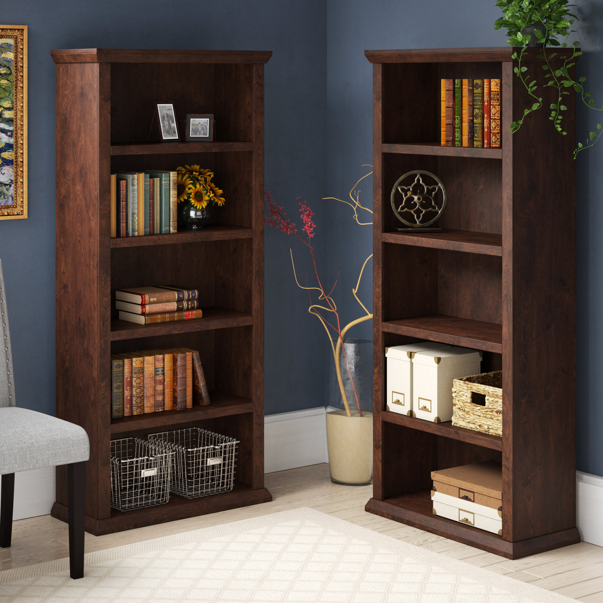 Trendy Ferrell Standard Bookcase Inside Ryker Standard Bookcases (View 17 of 20)