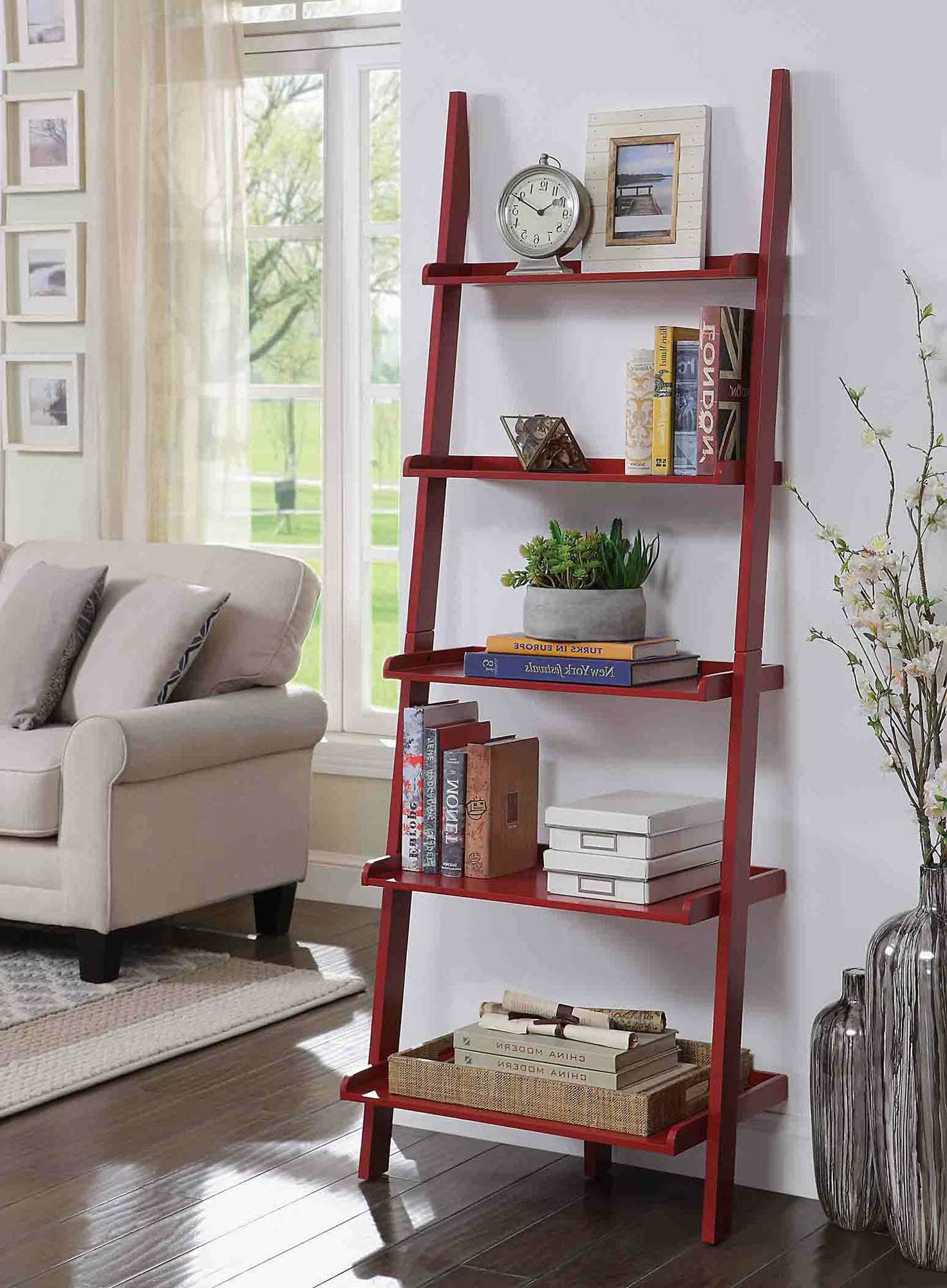Trendy Gilliard Ladder Bookcases Pertaining To Three Posts Gilliard Ladder Bookcase (View 12 of 20)