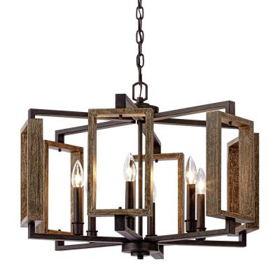 Trendy Hamza 6 Light Candle Style Chandeliers Regarding Candle Style – Chandeliers – Lighting – The Home Depot (View 22 of 25)