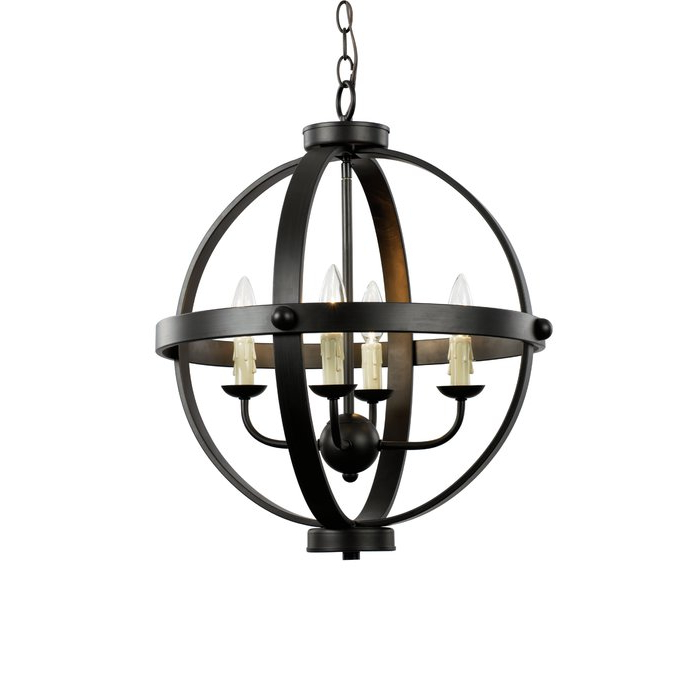 Trendy Keven 4 Light Globe Chandelier With Regard To Donna 4 Light Globe Chandeliers (View 22 of 25)
