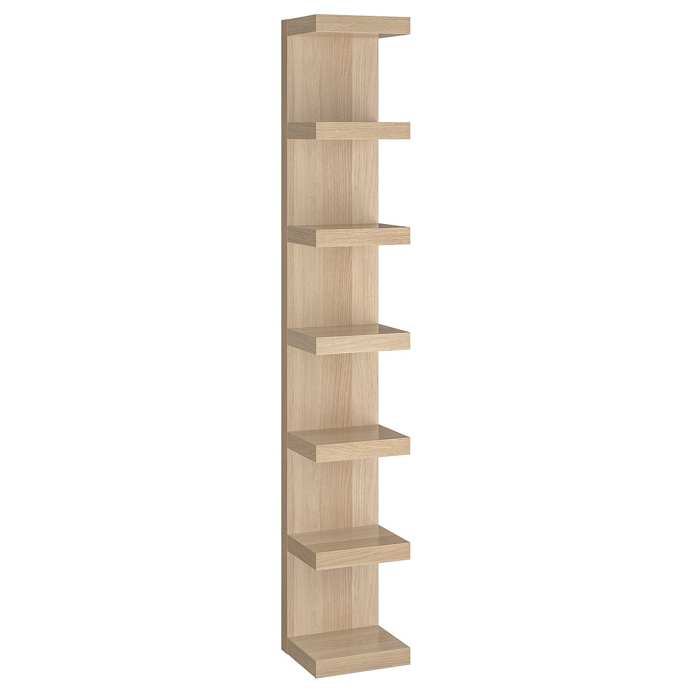 Trendy Lack Wall Shelf Unit, White With Narrow Profile Standard Cube Bookcases (View 17 of 20)