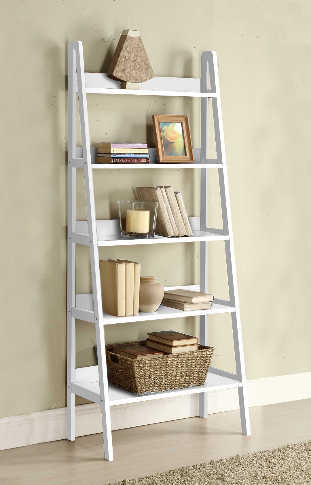 Trendy Ladder Bookcase With Regard To Brock Ladder Bookcases (View 16 of 20)