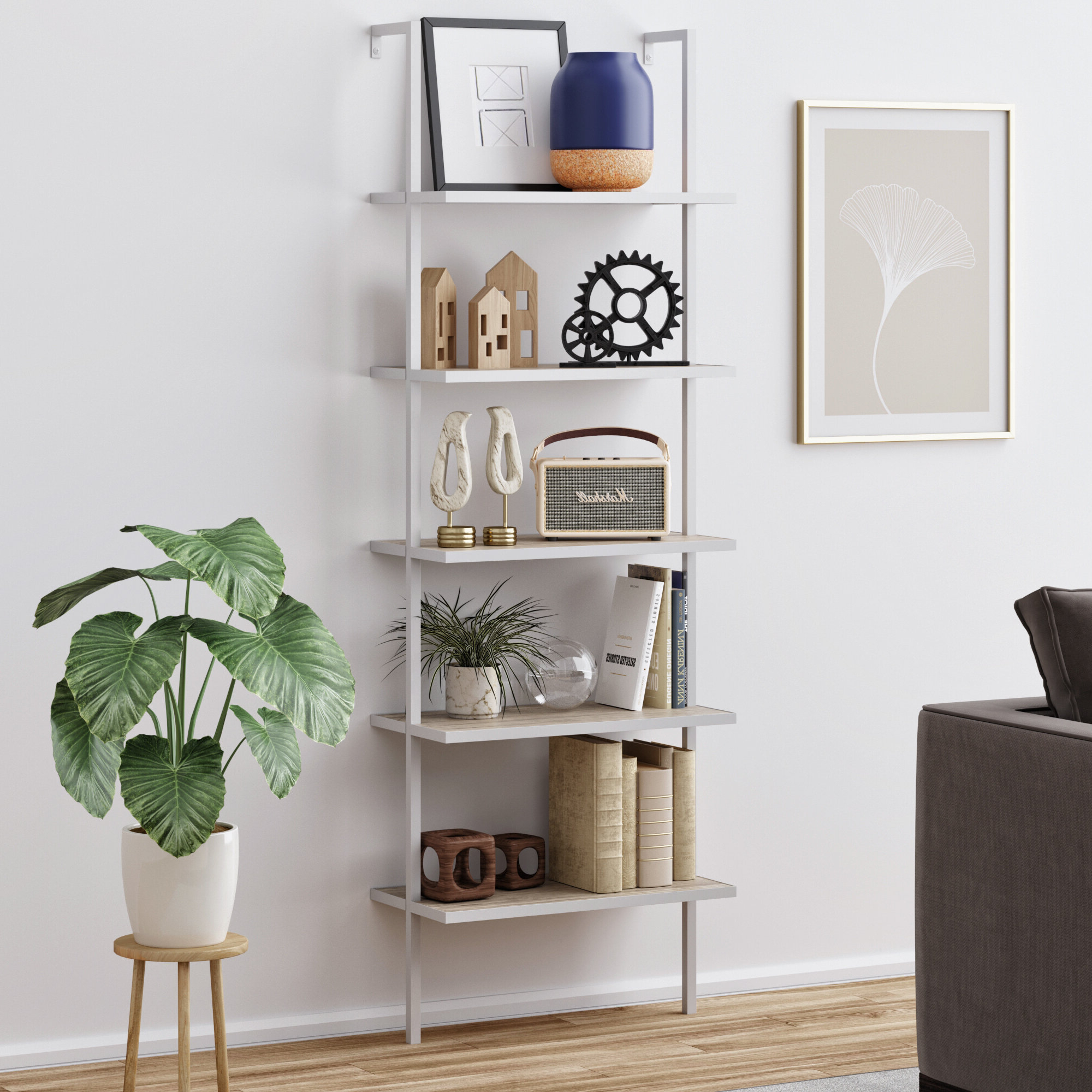 Trendy Moskowitz Ladder Bookcases Throughout Moskowitz Ladder Bookcase (View 19 of 20)