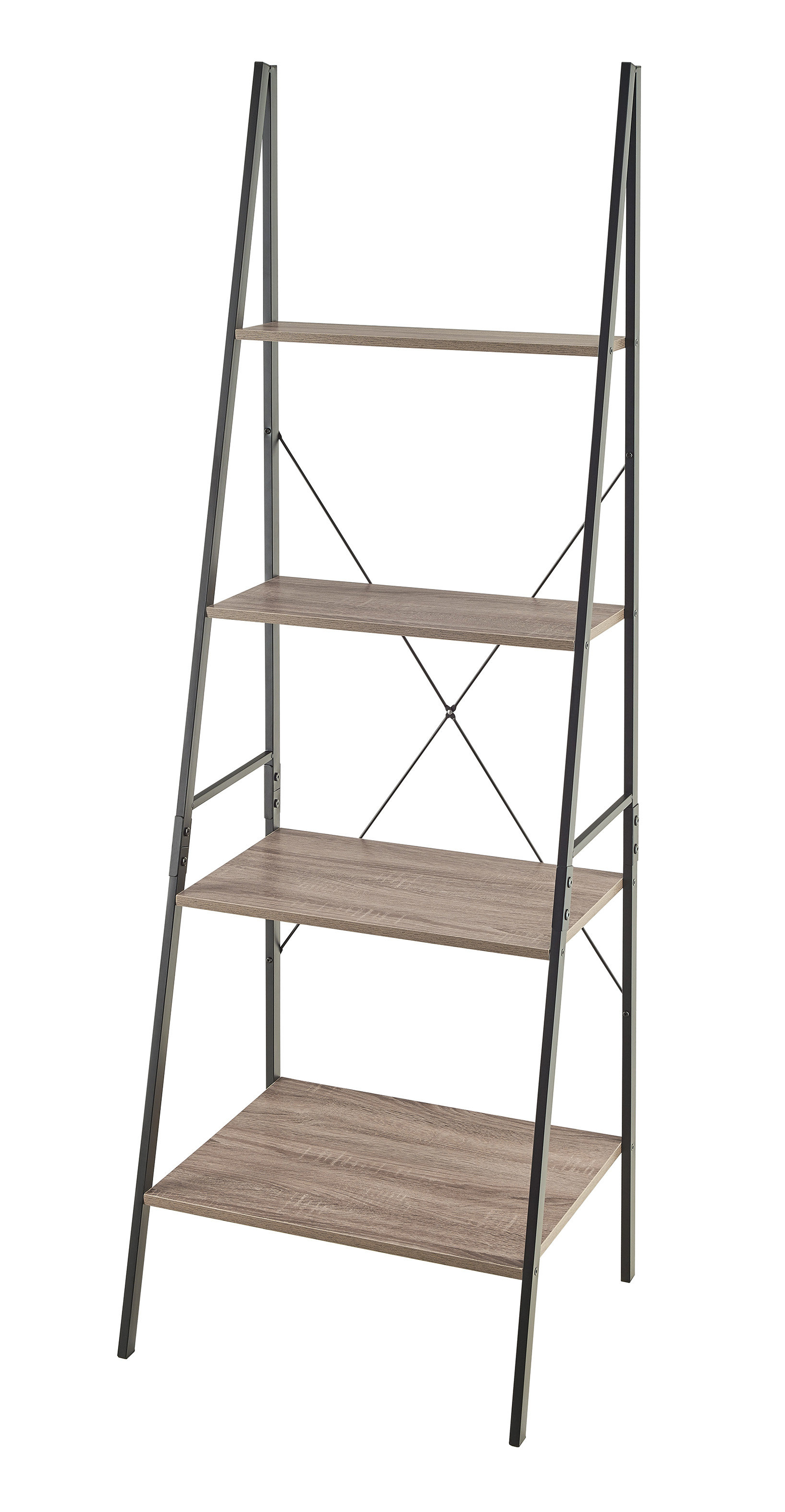 Trendy Noelle Ashlynn Ladder Bookcases Within Farmhouse & Rustic Leaning Bookcases & Bookshelves (View 17 of 20)