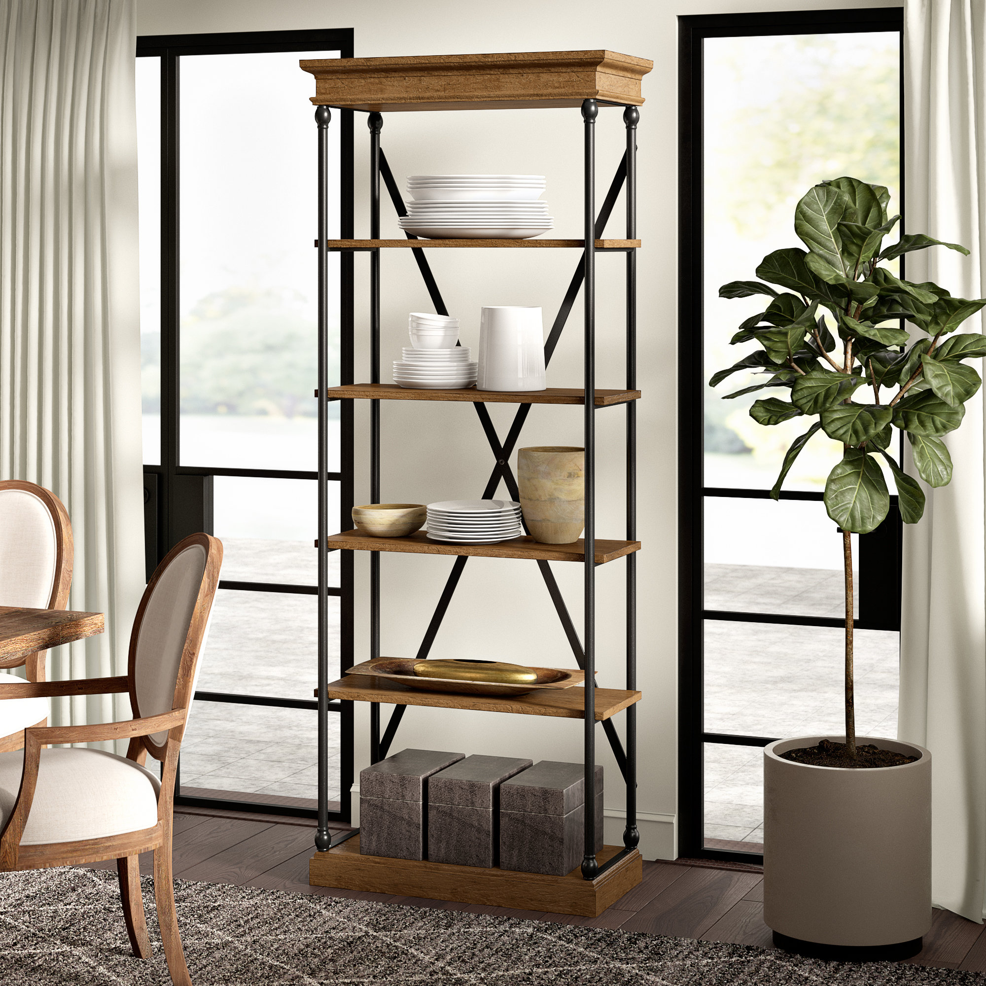 Trendy Poynor Etagere Bookcase In Beckwith Etagere Bookcases (View 19 of 20)