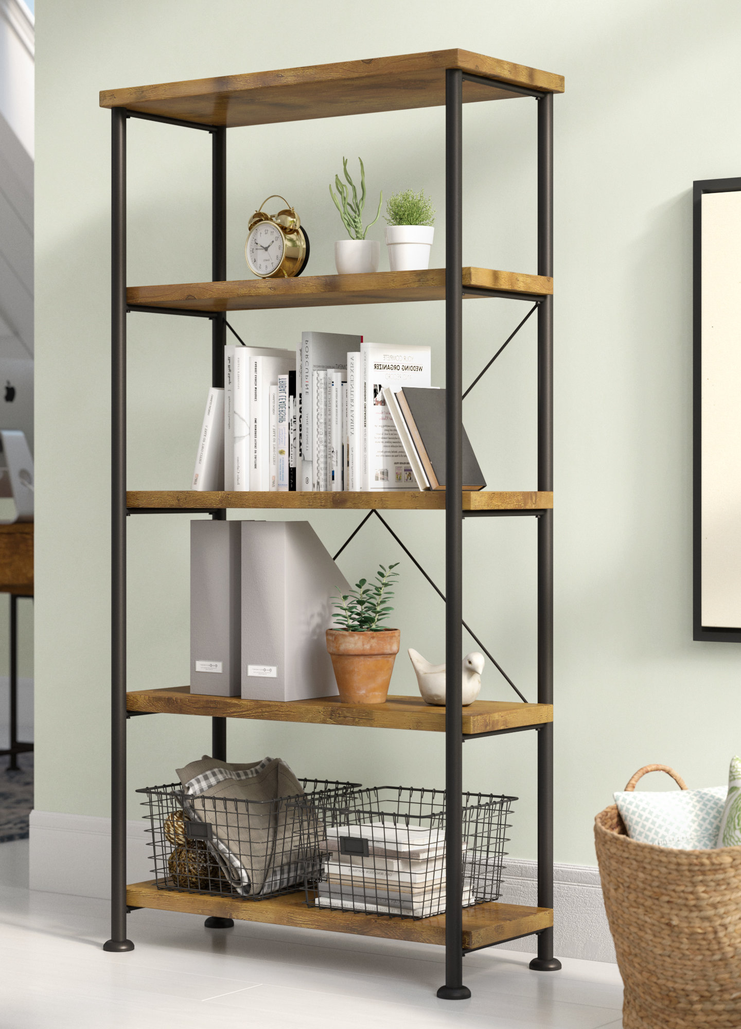 Trendy Poynor Etagere Bookcases Within Etagere Bookcase (View 16 of 20)