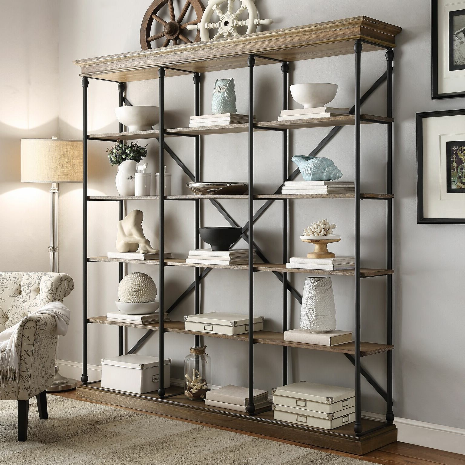 Trendy Poynor Library Bookcase With Poynor Etagere Bookcases (View 17 of 20)