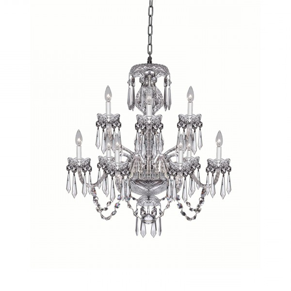 Trendy Watford 9 Light Candle Style Chandeliers Throughout Crystal Chandeliers & Lighting – Waterford® Us (View 13 of 25)