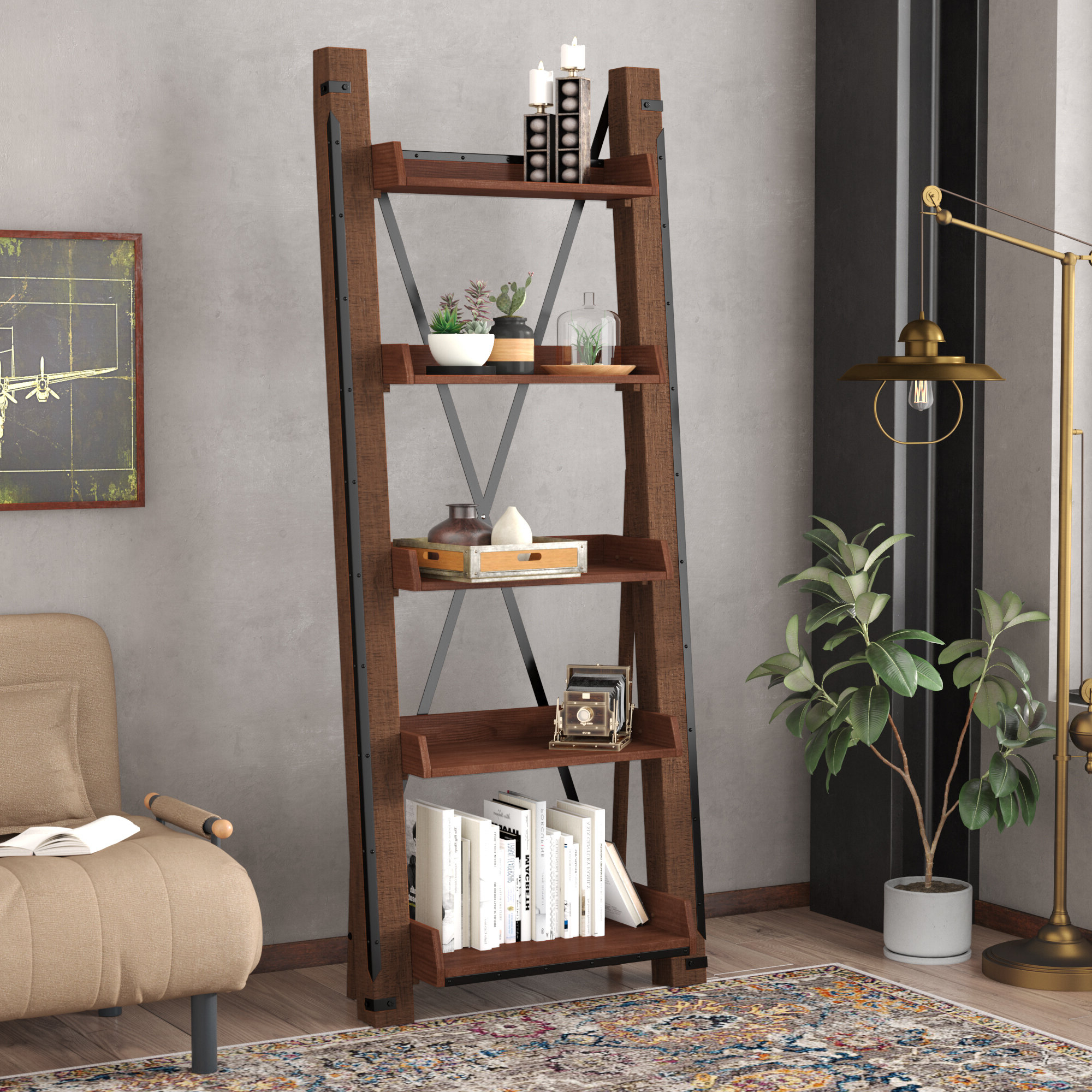 Featured Photo of Leandra Ladder Bookcases