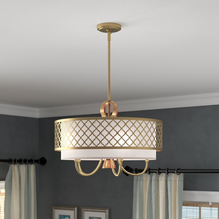 Tymvou 5 Light Drum Chandelier For Most Current Abel 5 Light Drum Chandeliers (View 22 of 25)