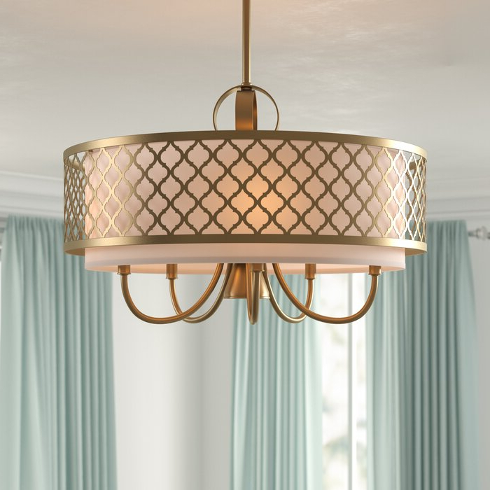 Tymvou 6 Light Drum Chandelier Pertaining To Famous Wightman Drum Chandeliers (View 20 of 25)