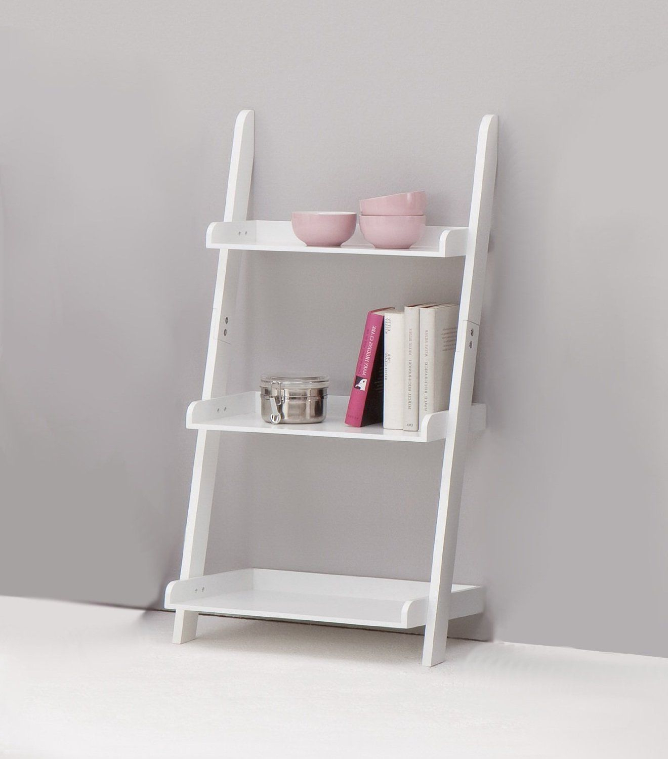 Using A Ladder Shelf To Save Some Space Is One Of The Many Intended For Well Known Alfred Ladder Bookcases (View 19 of 20)