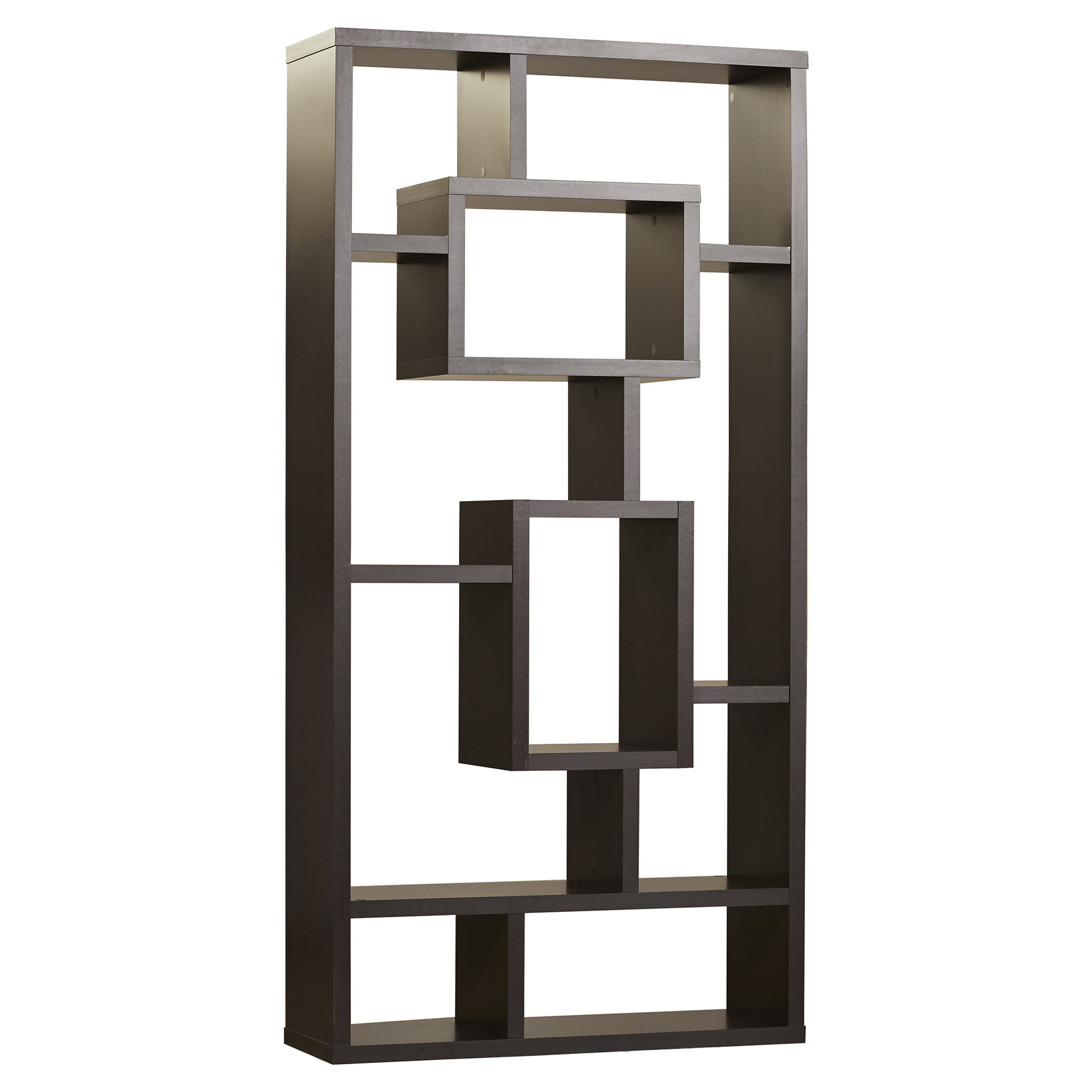 Vaccaro Geometric Bookcase In Trendy Ansley Geometric Bookcases (View 16 of 20)