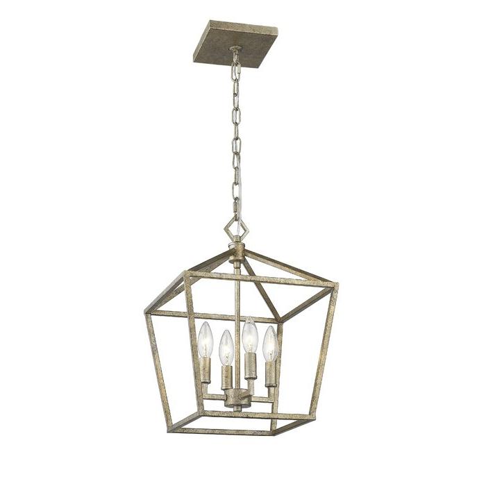 Varnum 4 Light Lantern Pendants Pertaining To Fashionable Varnum 4 Light Lantern Pendant (View 21 of 25)