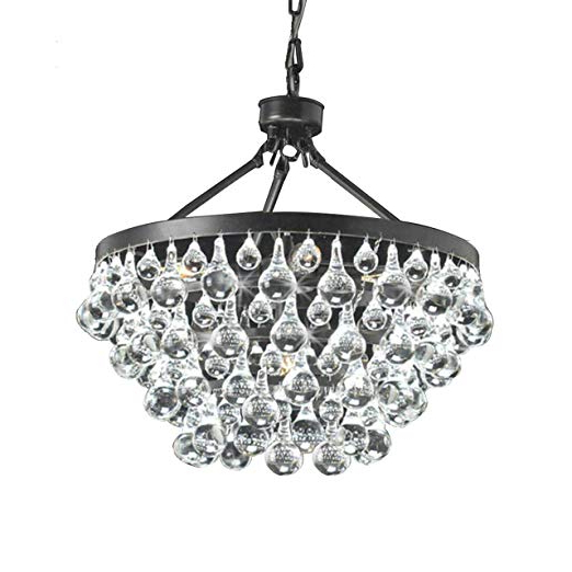 Verdell 5 Light Crystal Chandeliers Pertaining To 2017 Antique Black 5 Light Crystal Drop Chandelier (View 21 of 25)