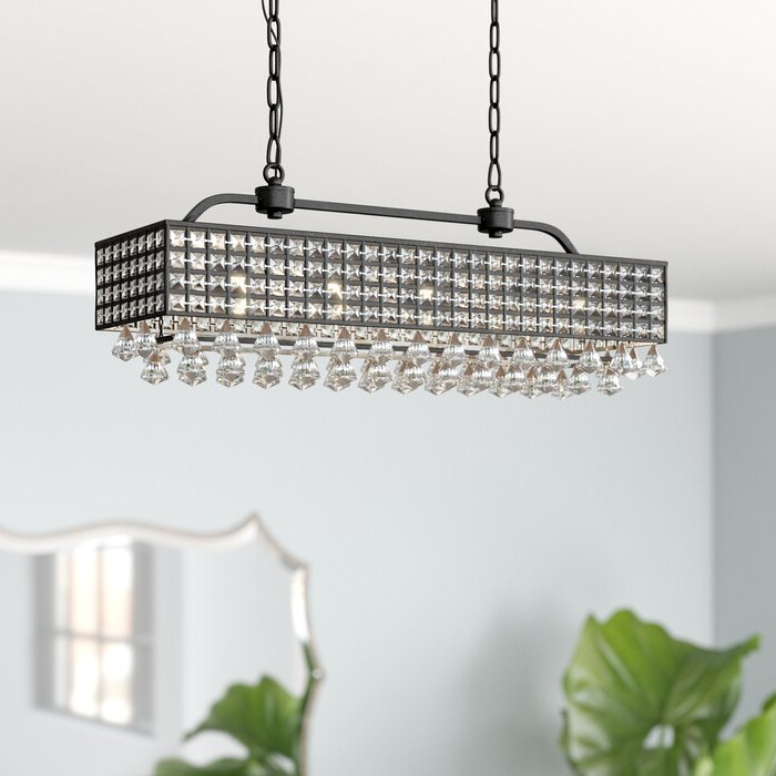Verdell 5 Light Crystal Chandeliers Pertaining To Most Current Madilynn 5 Light Crystal Chandelier (View 22 of 25)