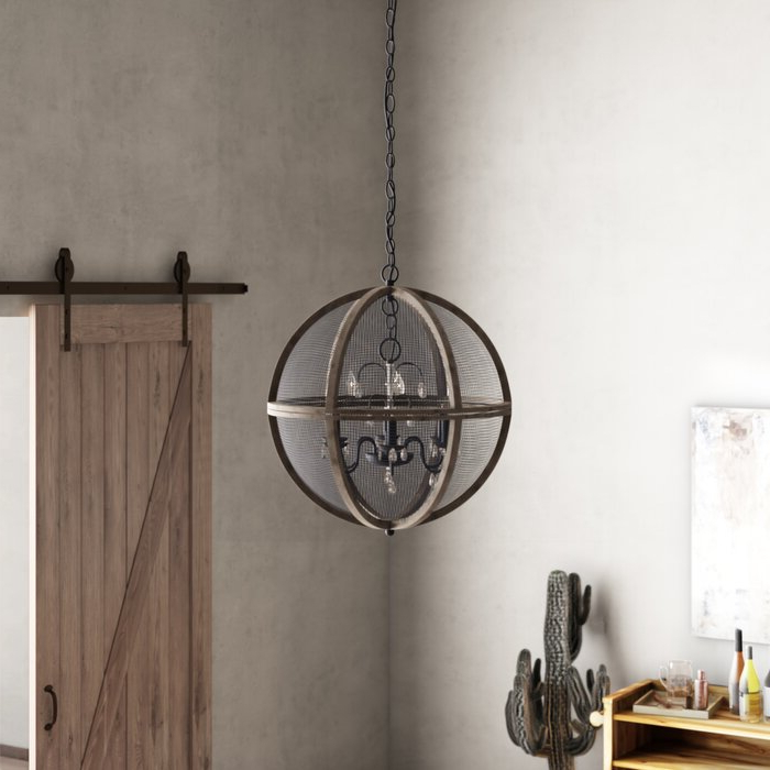 Verlene Foyer 5 Light Globe Chandeliers With Regard To Widely Used Frodsham 5 Light Globe Chandelier (View 21 of 25)